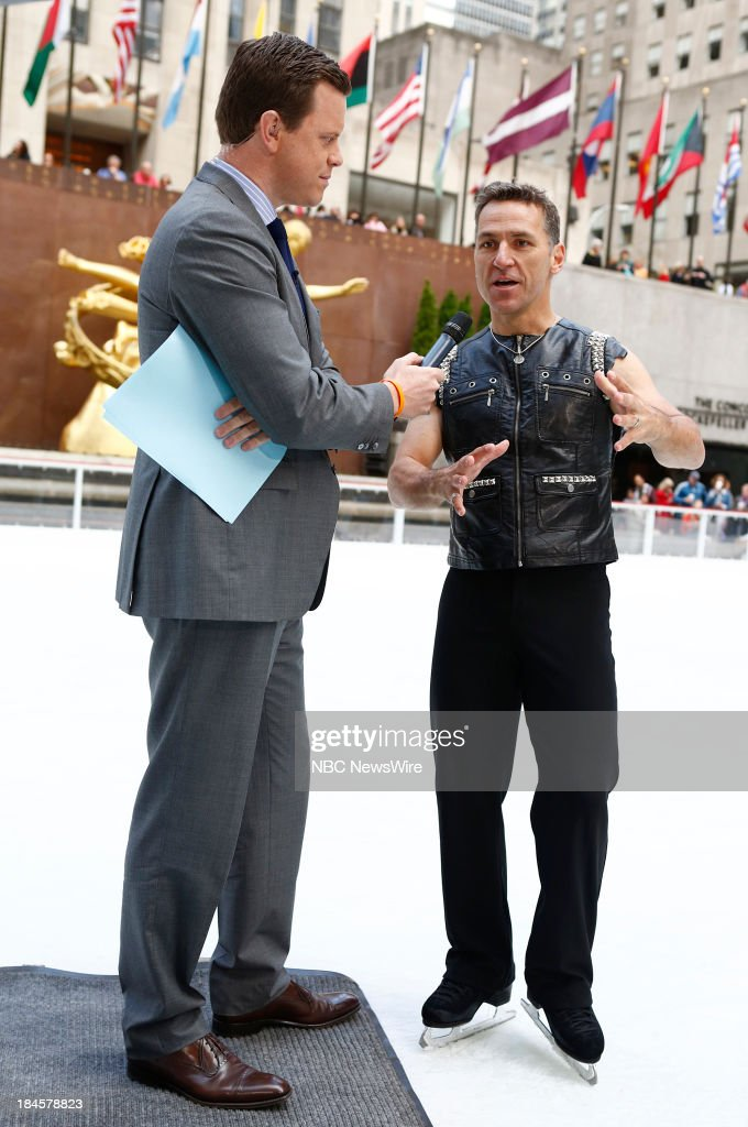Willie Geist and <a gi-track='captionPersonalityLinkClicked' href=/galleries/search?phrase=Elvis+Stojko&family=editorial&specificpeople=224580 ng-click='$event.stopPropagation()'>Elvis Stojko</a> appear on NBC News' 'Today' show --