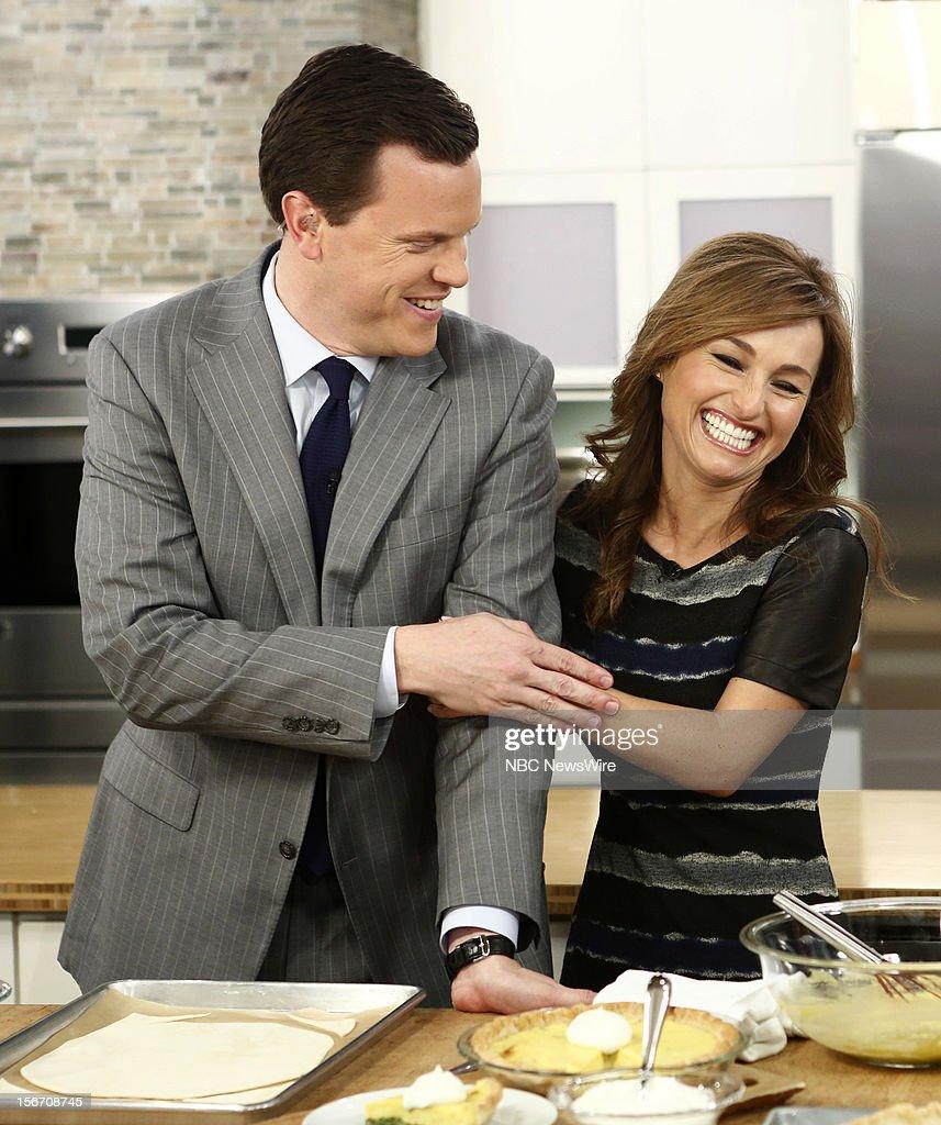 Willie Geist and Giada de Laurentiis appear on NBC News' 'Today' show --