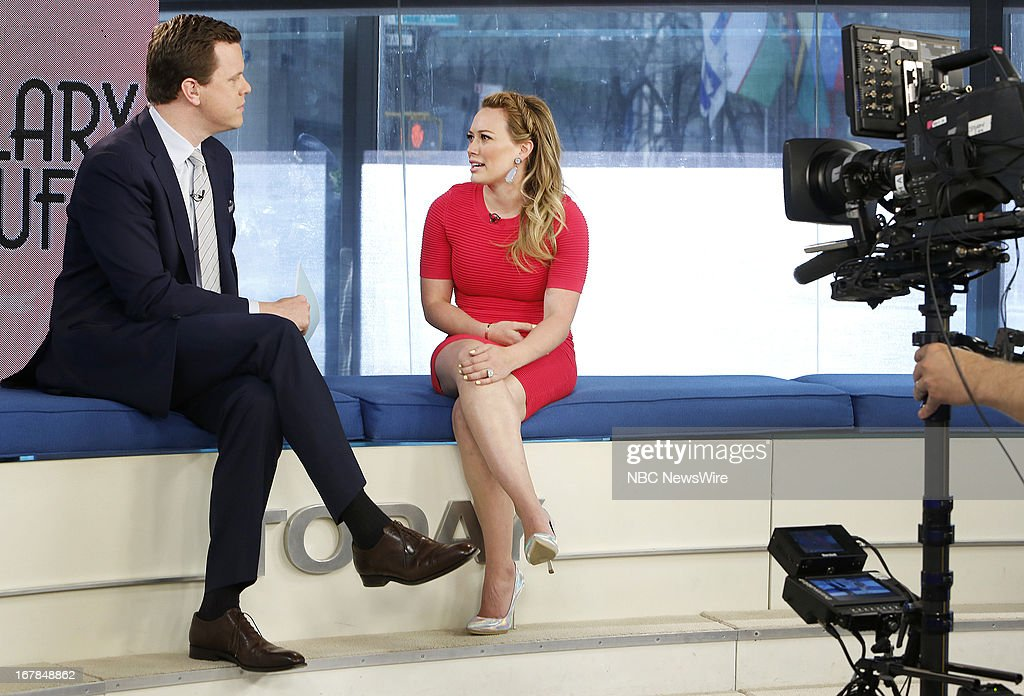 Willie Geist and <a gi-track='captionPersonalityLinkClicked' href=/galleries/search?phrase=Hilary+Duff&family=editorial&specificpeople=201586 ng-click='$event.stopPropagation()'>Hilary Duff</a> appear on NBC News' 'Today' show --