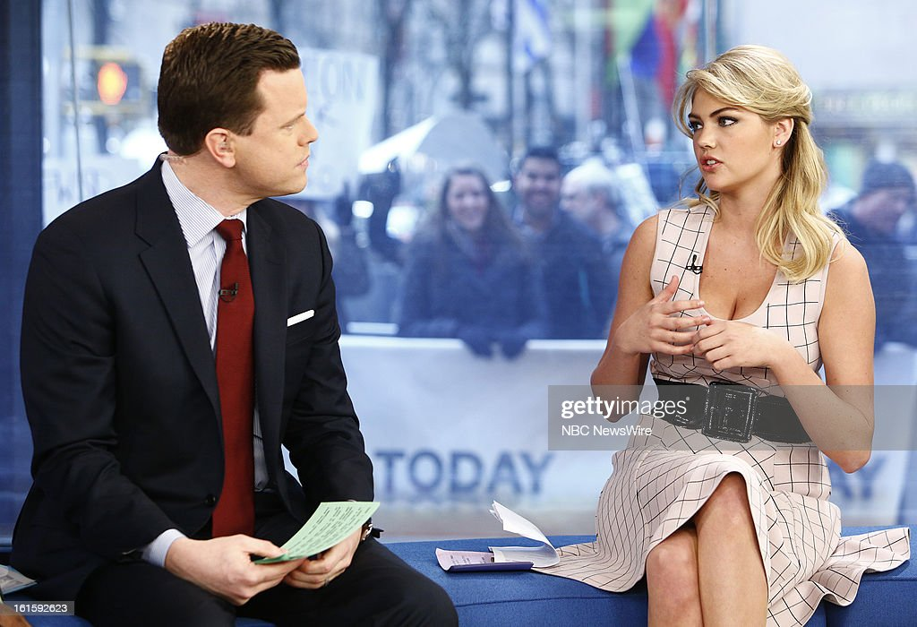 Willie Geist and <a gi-track='captionPersonalityLinkClicked' href=/galleries/search?phrase=Kate+Upton&family=editorial&specificpeople=7488546 ng-click='$event.stopPropagation()'>Kate Upton</a> appear on NBC News' 'Today' show --