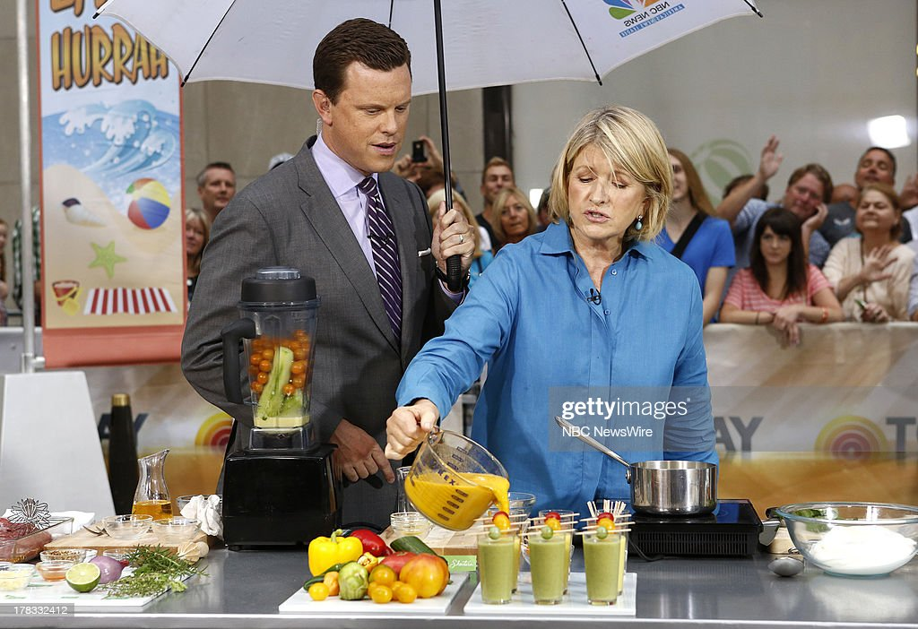 Willie Geist and Martha Stewart appear on NBC News' 'Today' show --