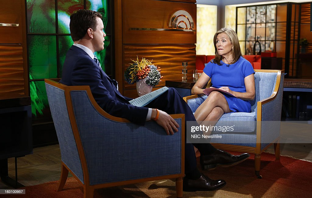 Willie Geist and <a gi-track='captionPersonalityLinkClicked' href=/galleries/search?phrase=Meredith+Vieira&family=editorial&specificpeople=217718 ng-click='$event.stopPropagation()'>Meredith Vieira</a> appear on NBC News' 'Today' show --