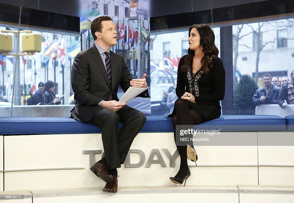 Willie Geist and <a gi-track='captionPersonalityLinkClicked' href=/galleries/search?phrase=Patti+Stanger&family=editorial&specificpeople=5446458 ng-click='$event.stopPropagation()'>Patti Stanger</a> appear on NBC News' 'Today' show --