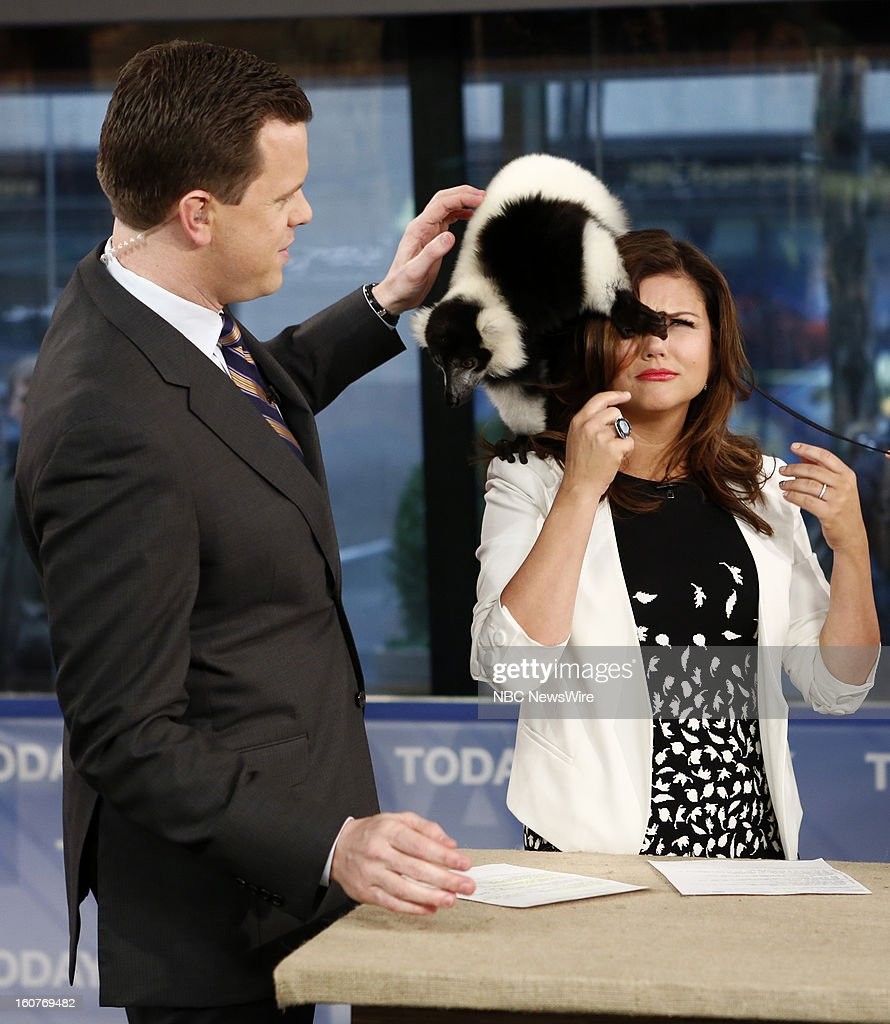 Willie Geist and Tiffani Thiessen appear on NBC News' 'Today' show --