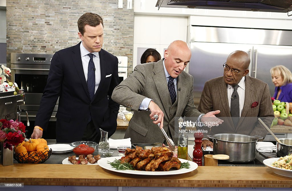 Willie Geist, Anthony Scotto and <a gi-track='captionPersonalityLinkClicked' href=/galleries/search?phrase=Al+Roker&family=editorial&specificpeople=206153 ng-click='$event.stopPropagation()'>Al Roker</a> appear on NBC News' 'Today' show --