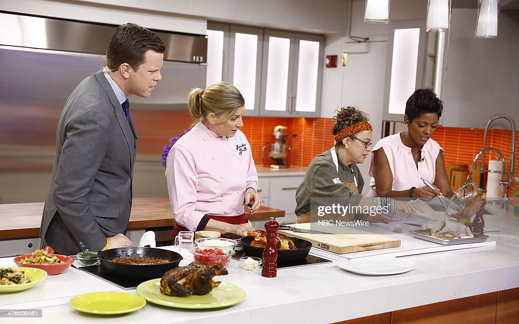 Willie Geist, Mary Sue Milken, Susan Feniger and Tamron Hall appear on NBC News' 'Today' show --