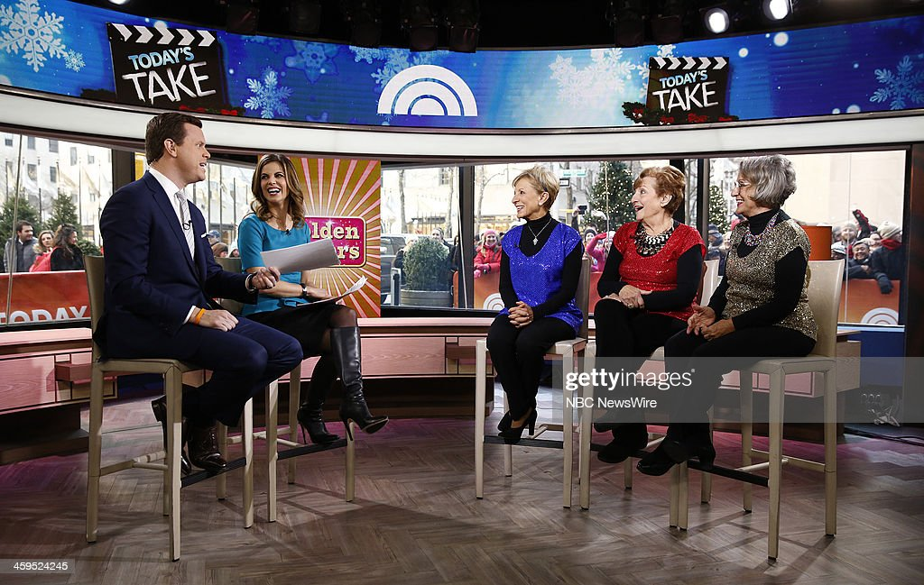 Willie Geist, <a gi-track='captionPersonalityLinkClicked' href=/galleries/search?phrase=Natalie+Morales+-+News+Anchor&family=editorial&specificpeople=710956 ng-click='$event.stopPropagation()'>Natalie Morales</a>, Josie Cavaluzzi, Mary Bartnicki and Terry Dahlquist appear on NBC News' 'Today' show --
