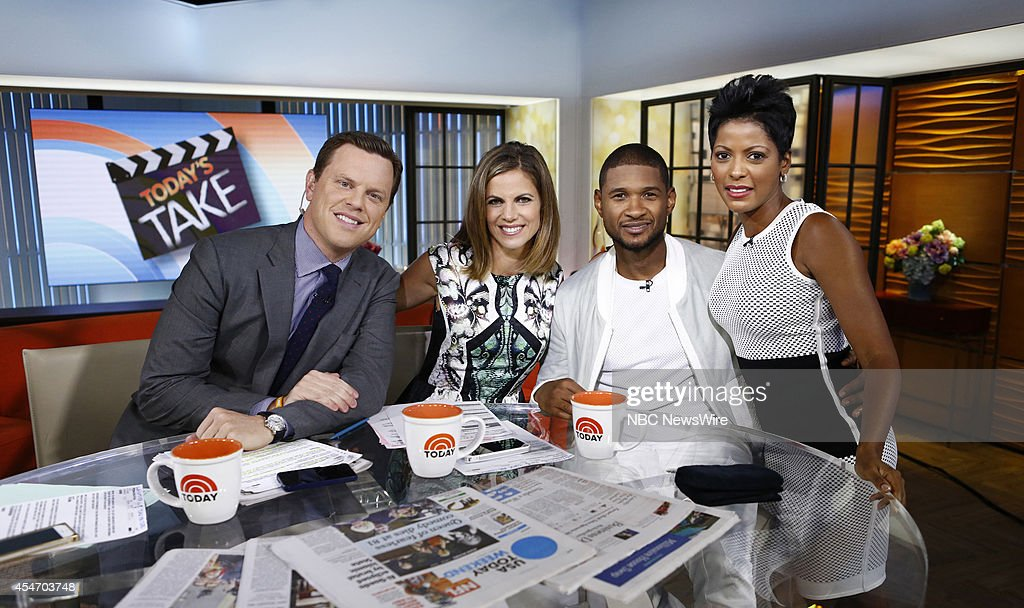 Willie Geist Natalie Morales Usher and Tamron Hall appear on NBC News' 'Today' show