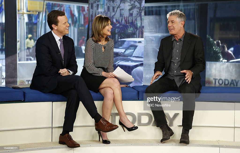 Willie Geist, <a gi-track='captionPersonalityLinkClicked' href=/galleries/search?phrase=Savannah+Guthrie&family=editorial&specificpeople=653313 ng-click='$event.stopPropagation()'>Savannah Guthrie</a> and <a gi-track='captionPersonalityLinkClicked' href=/galleries/search?phrase=Anthony+Bourdain&family=editorial&specificpeople=2310617 ng-click='$event.stopPropagation()'>Anthony Bourdain</a> appear on NBC News' 'Today' show --