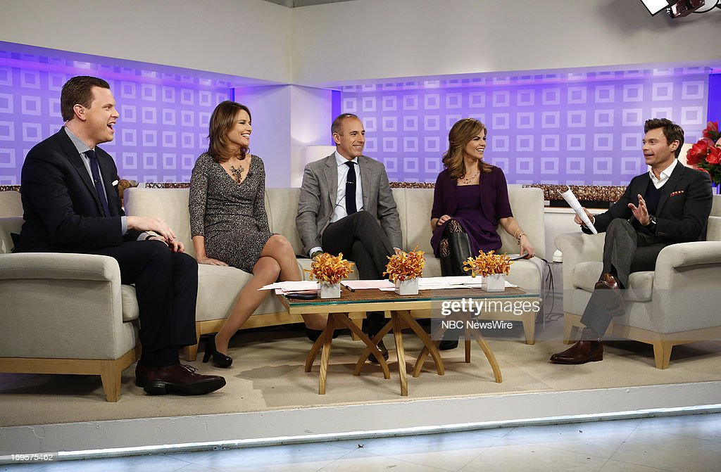 Willie Geist, Savannah Guthrie, Matt Lauer, Natalie Morales and Ryan Seacrest appear on NBC News' 'Today' show --