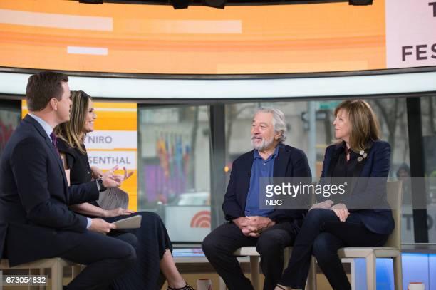 Willie Geist Savannah Guthrie Robert De Niro and producer Jane Rosenthal on Wednesday April 19 2017