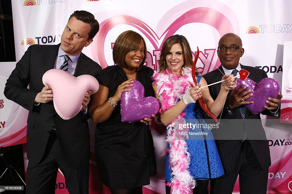 Willie Geist, Sunny Anderson, Natalie Morales and Al Roker appear on NBC News' 'Today' show --
