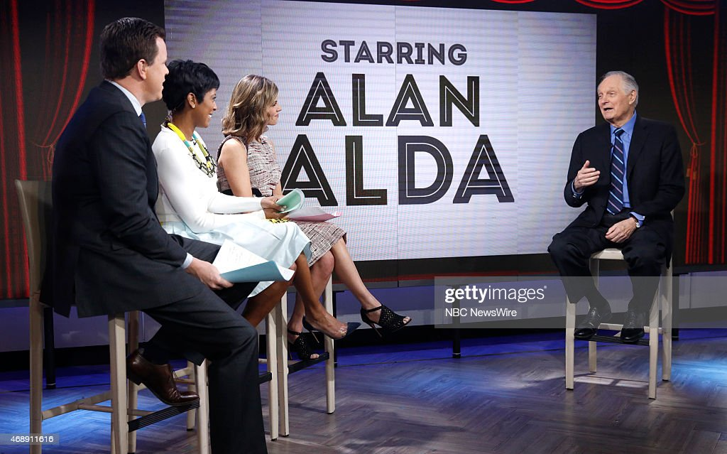 Willie Geist Tamron Hall Natalie Morales and Alan Alda appear on NBC News' 'Today' show