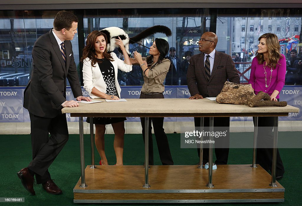 Willie Geist, Tiffani Thiessen, Julie Scardina, Al Roker and Natalie Morales appear on NBC News' 'Today' show --