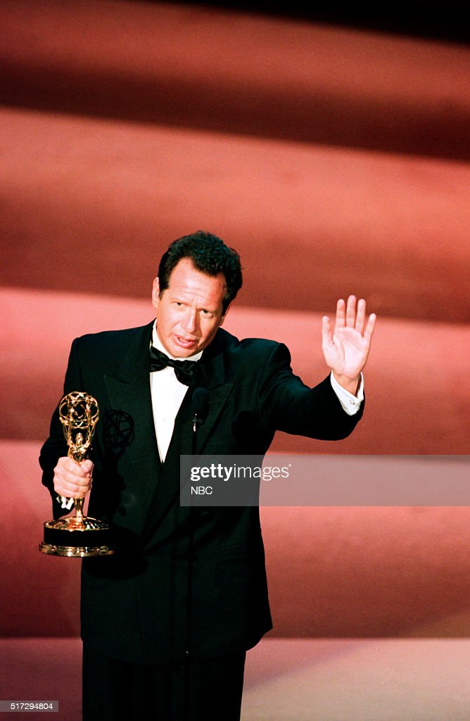 Winner for Outstanding Writing for a Comedy Series for 'The Larry Sanders Show' <a gi-track='captionPersonalityLinkClicked' href=/galleries/search?phrase=Garry+Shandling&family=editorial&specificpeople=220833 ng-click='$event.stopPropagation()'>Garry Shandling</a> on stage during the 50th Annual Primetime Emmy Awards held at the Shrine Auditorium in Los Angeles, CA on September 13, 1998 --