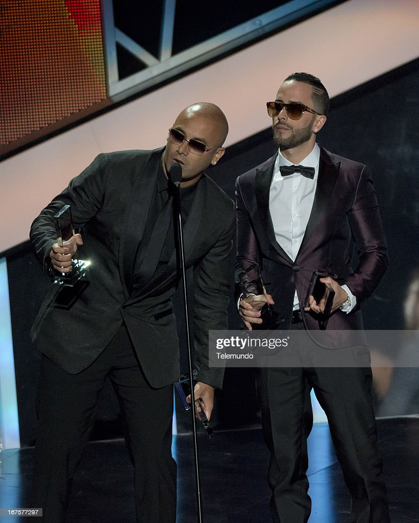 Winners Wisin and Yandel for the 2013 Billboard Latin Music Awards held at the BankUnited Center, University of Miami in Miami, Florida on April 25, 2013 --