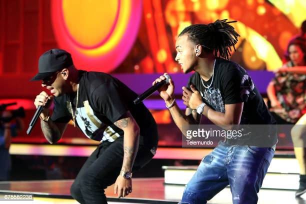 Wisin and Ozuna during rehearsals at the Watsco Center in the University of Miami Coral Gables Florida on April 27 2017