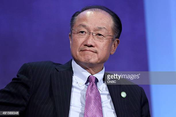 World Bank President Jim Yong Kim speaks at the Clinton Global Initiative Annual Meeting in New York City on September 28 2015