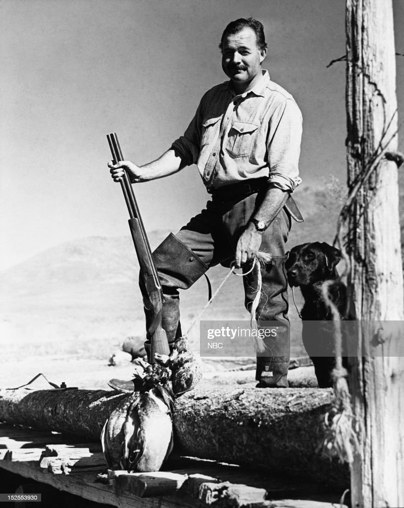 Writer Ernest Hemingway on a hunt at Sun Valley, Idaho in 1940 -- Photo by: NBC/NBCU Photo Bank via Getty Images