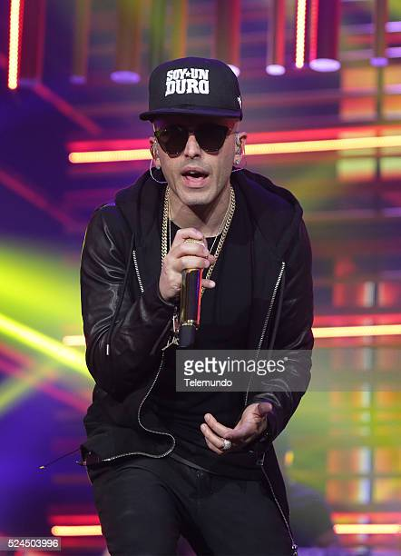 Yandel rehearses for the 2016 Billboard Latin Music Awards at the BankUnited Center in Miami Florida on April 25 2016