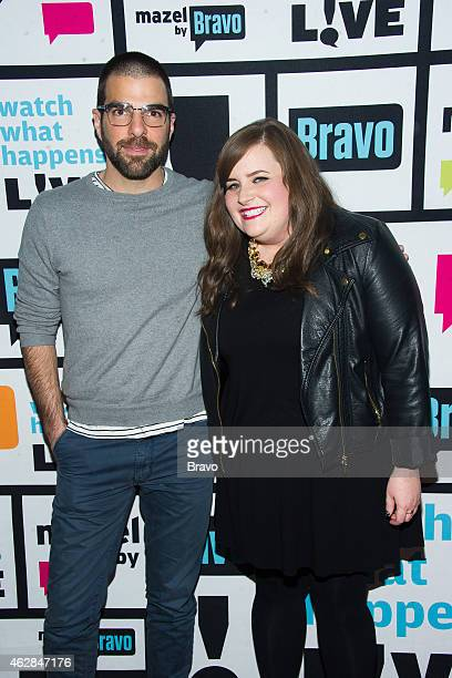 Zachary Quinto and Aidy Bryant