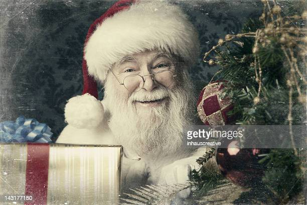 Pictures of Real Santa Claus bringing presents