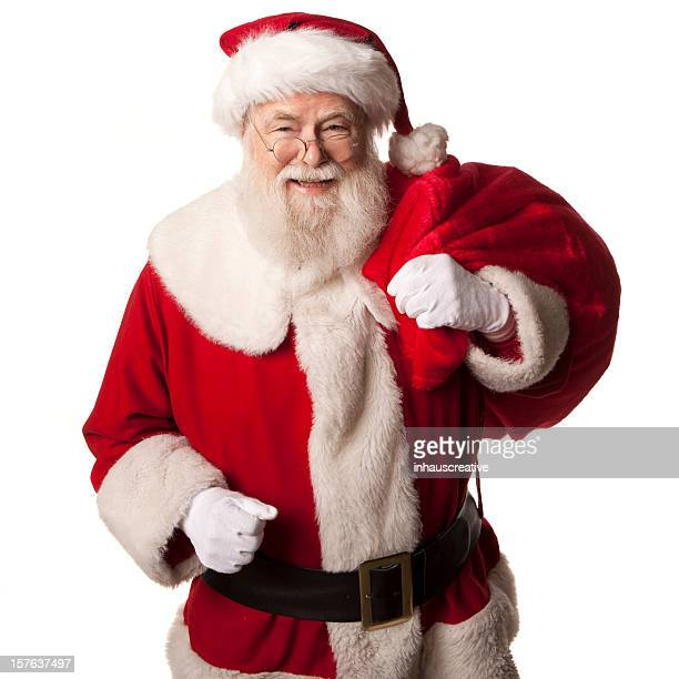 Pictures of Real Santa Claus Has A Gift Bag
