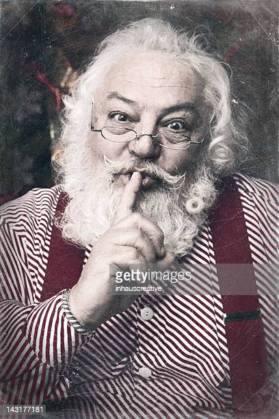 Pictures of Real Santa Claus saying shh be quite