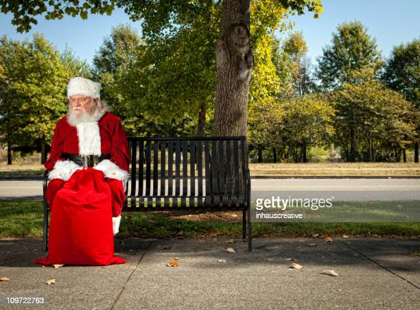 Pictures of Real Santa Claus waiting for Christmas
