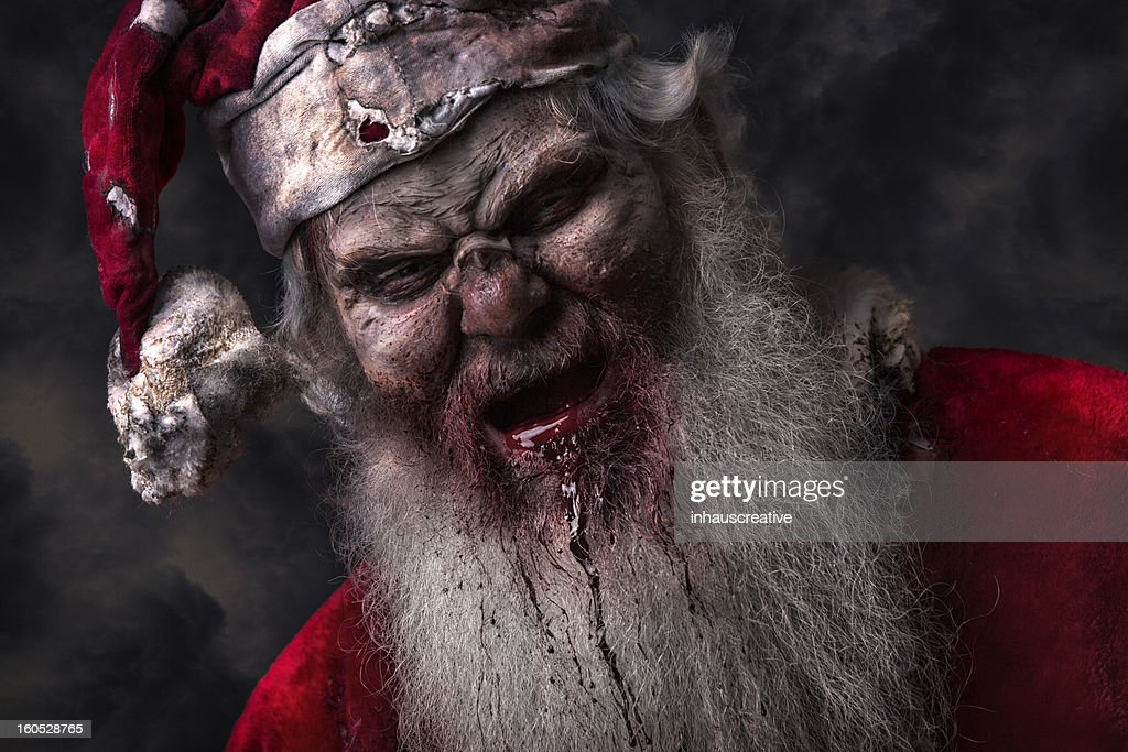 Portrait of Santa Claws the Serial Killer : Stock Photo