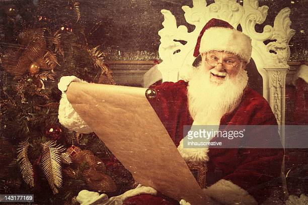 Pictures of Real Vintage Santa Claus checking his list