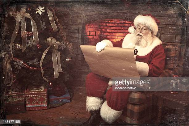 Pictures of Real Vintage Santa Claus checking his list twice