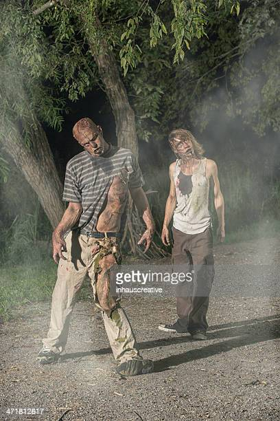 Pictures of Real Zombie walking in a foggy park