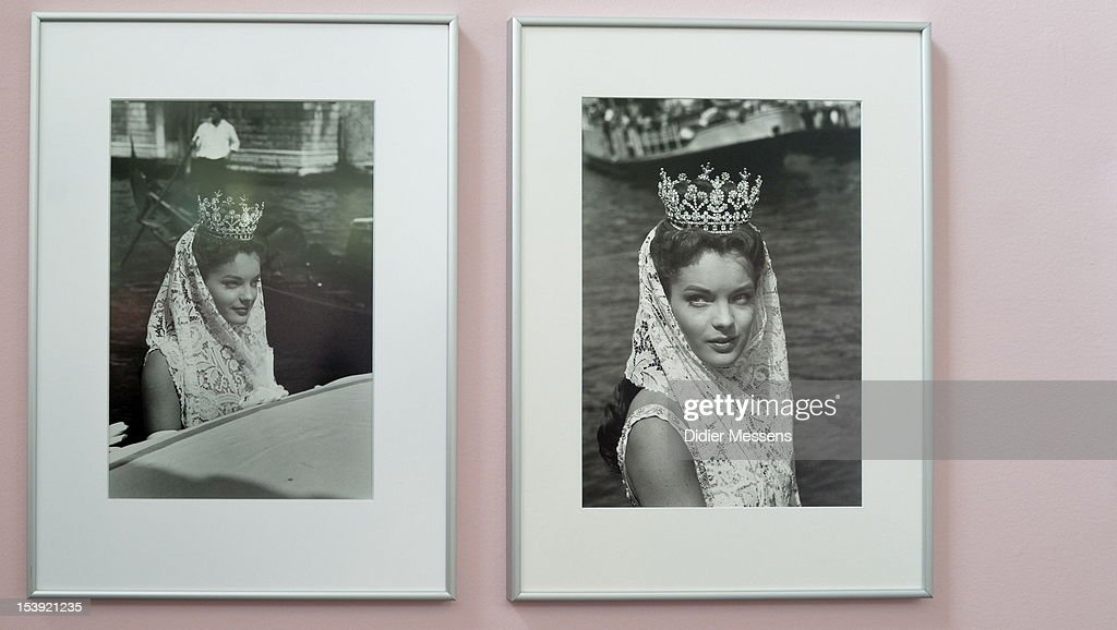 Pictures of Romy Schneider as Sissi are shown as part of The Romy Schneider Exhibition at Caermersklooster on October 11, 2012 in Ghent, Belgium.