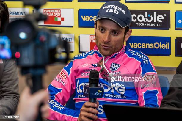 PHOTO*** A pictures taken on March 12 2011 in Chieti Italy show Michele Scarponi won the 4th stage of Tirreno Adriatico Italian cyclist Michele...