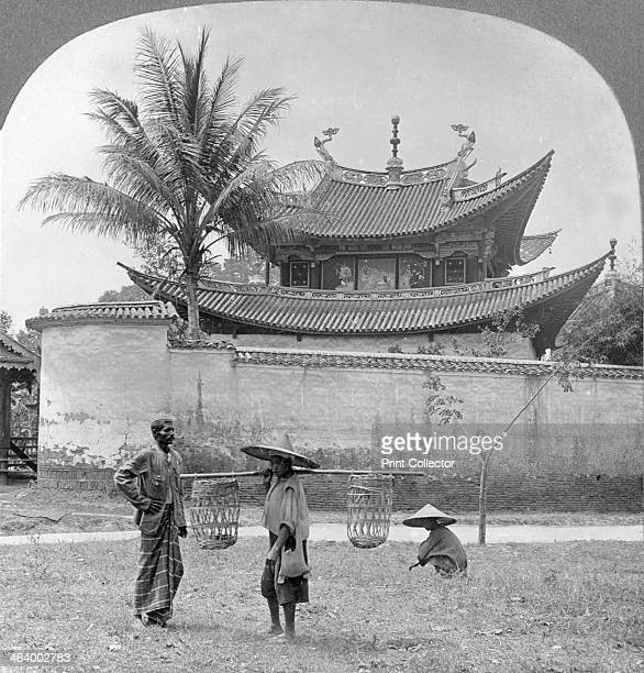 Picturesque Chinese joss house Bhamo Burma 1908 A joss house is a temple for the worship of shen deities saints ancestors and supernatural beings in...