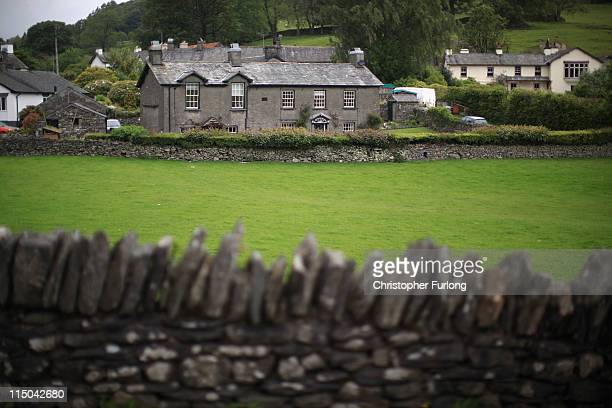 A picturesque cottage in the village of Sawrey near to the home of Beatrix Potter on June 1 2011 in Sawrey United Kingdom The English Lake District...