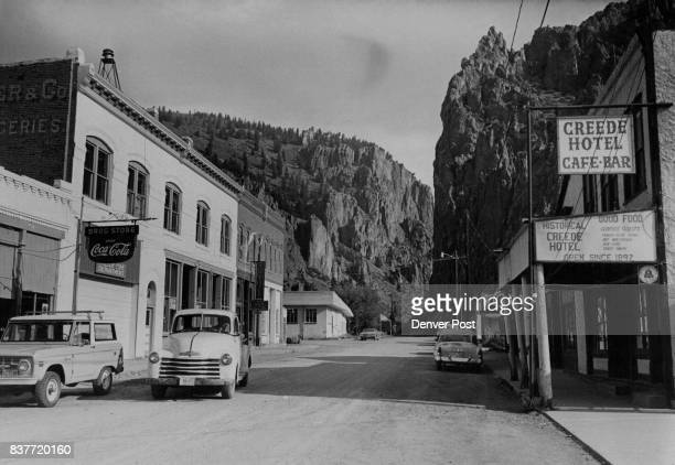 Picturesque Creede Colo sits in the heart of mining fishing territory Nearby upper Rio Grande River and other waters give up lunker trout each year...