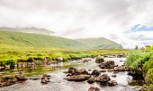View on picturesque creek landscape in Scotland