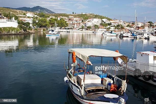 Picturesque harbour in Thessalonika, Greece
