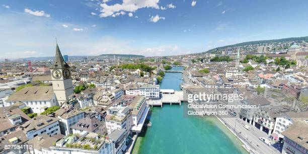Picturesque Panorama of Lindenhof in Zurich, Switzerland
