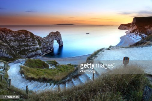 Picturesque photo of Durdle Door Sunset : Stock Photo