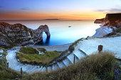 Durdle Door Sunset on the jurassic coast dorset england