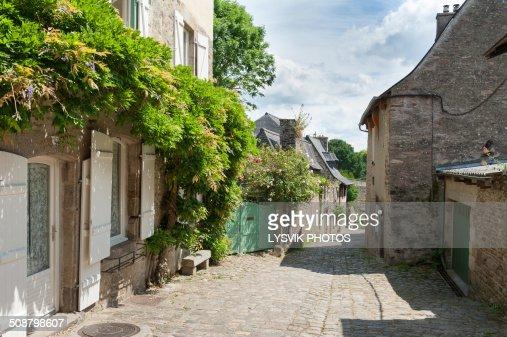Picturesque street in Dinan