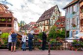 Picturesque view of Petite Venise Colmar charming town located in the Haut Rhin departamenteo Alsace region of France France Vista Pitoresca de...