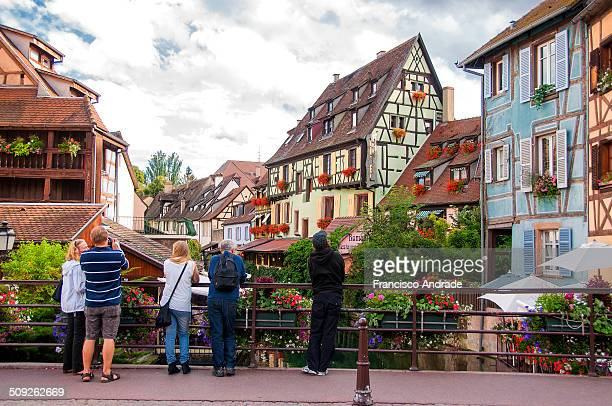 Picturesque view of Petite Venise Colmar charming town located in the Haut Rhin departamenteo Alsace region of France France Vista Pitoresca de...