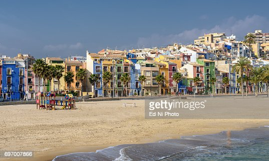 Picturesque Villajoyosa on the Mediterranean coast in Southern Spain : Foto stock