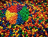Pie chart shape in an abundance of balls