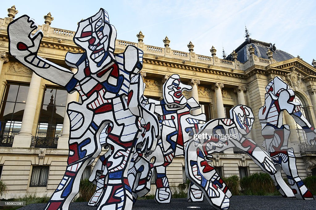 A piece by French artist Jean Dubbufet untitled 'Welcome Parade' is seen front Le petit Palais in Paris as part of the outdoor exhibition of the FIAC International Contemporary Art Fair on October 25, 2013 in Paris, France. This is the 40th anniversary edition of