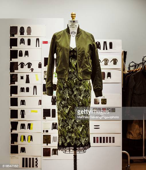 A piece from the Carine Roitfeld capsule collection is photographed for Madame Figaro on January 13 2016 in Uniqlo's workshop inTokyo Japan The...